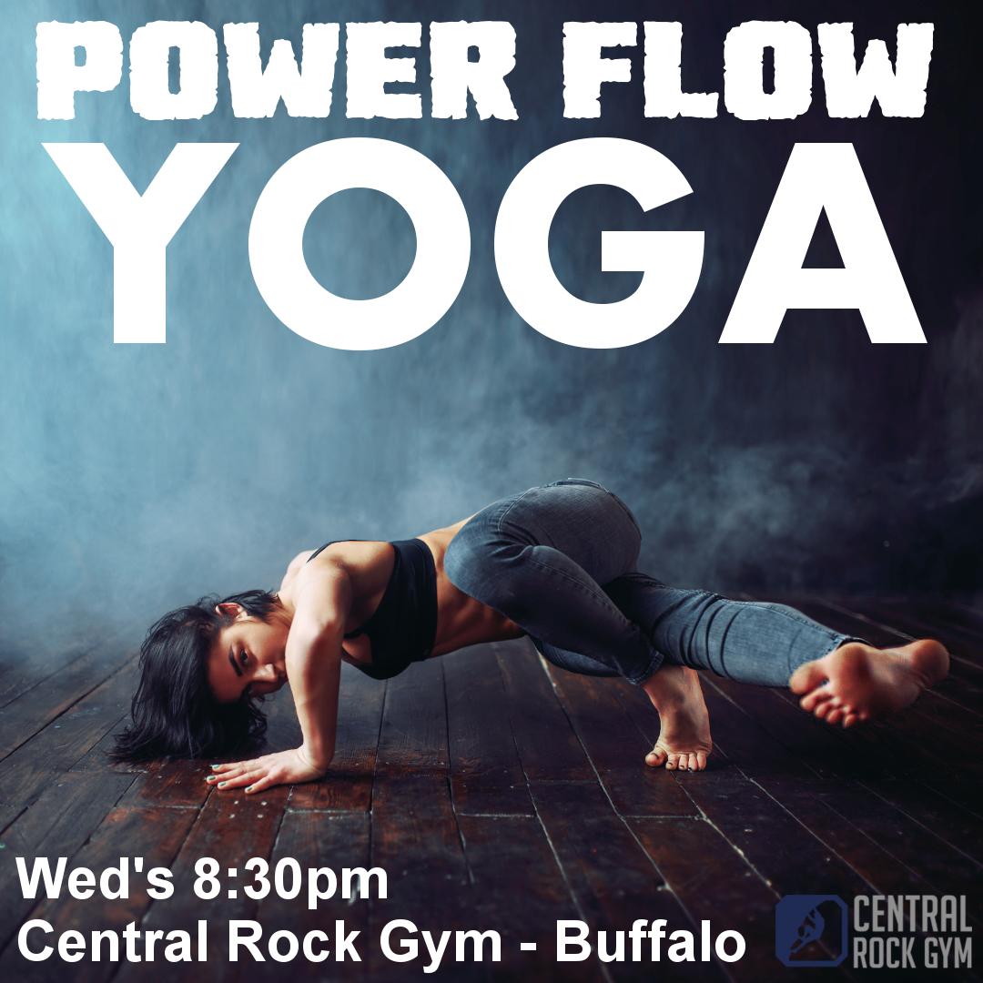 power flow yoga central rock gym